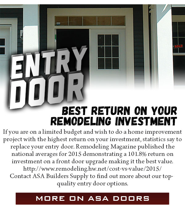 Entry door best return on you remodeling investment for Kitchen renovation return on investment