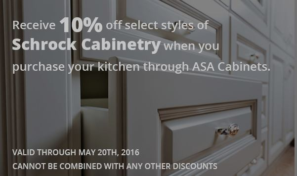 ASA Cabinets Schrock Cabinetry Sale 2016