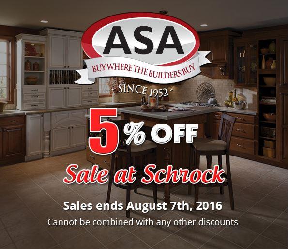 ASA Cabinets Schrock Sale