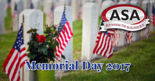 ASA Memorial Day 2017