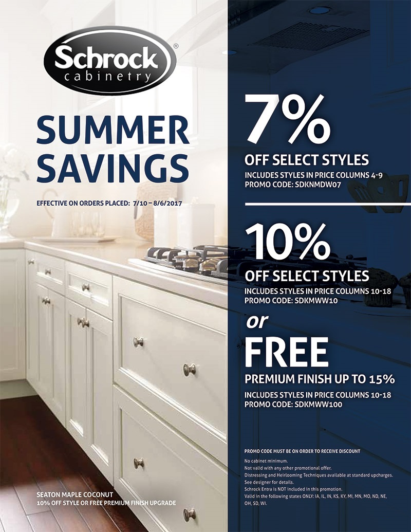 ASA Cabinets Schrock Seaton Maple Summer Promotion