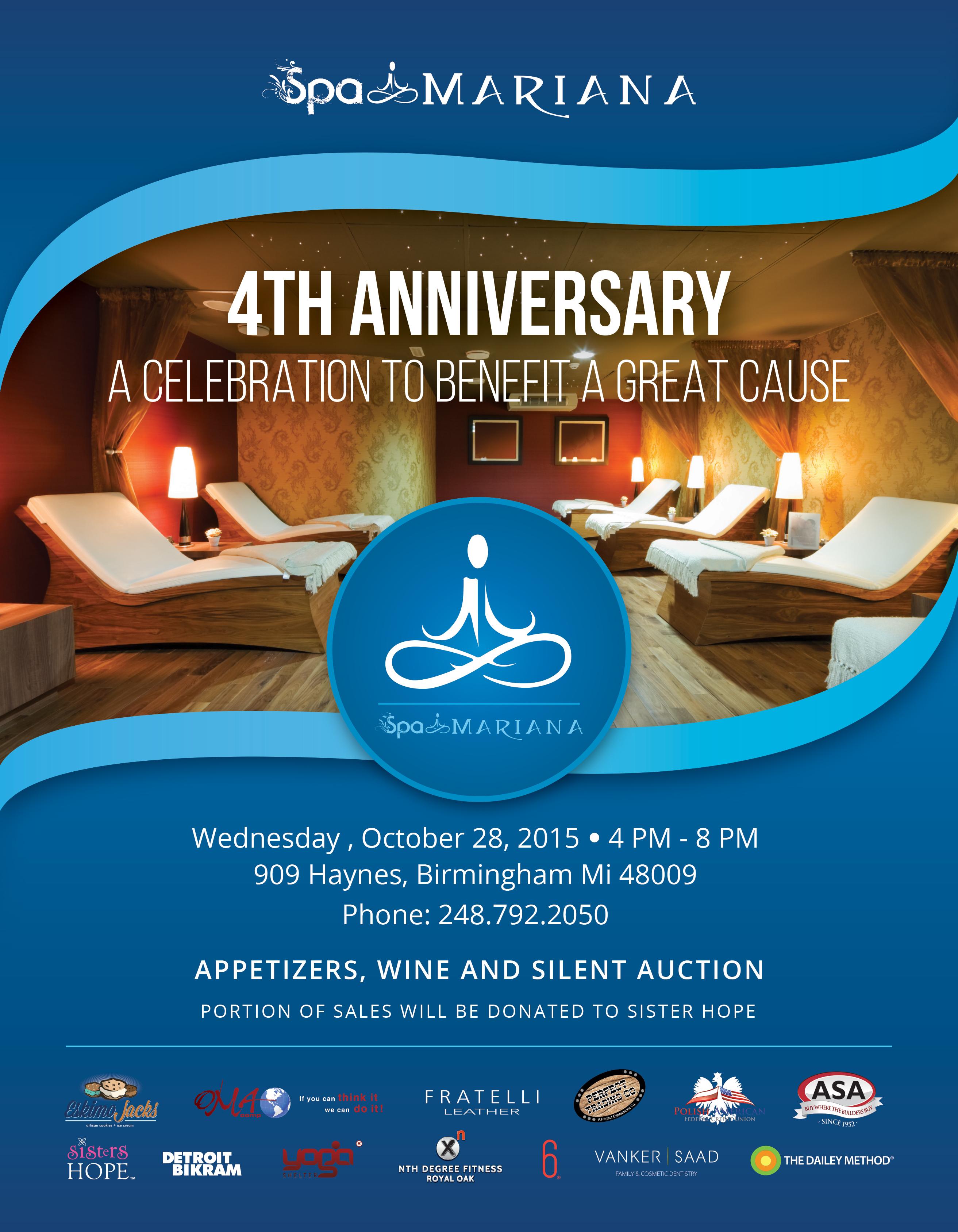 Spa Mariana 2015 Anniversary Flyer